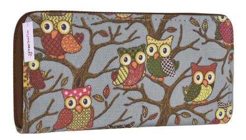 1Canvas Owl Print Wallet