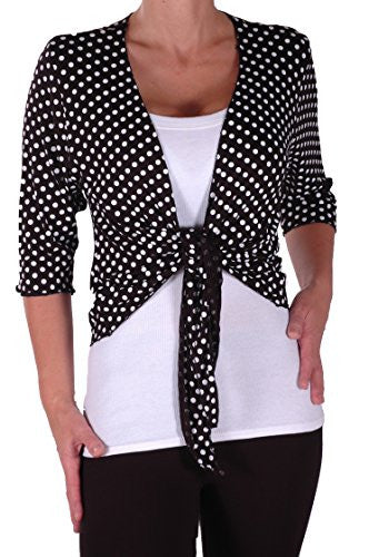 1Orla Mid Length Spotty Plus Size Shrugs