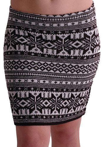 1Aztec Cozy Knitted Skirt