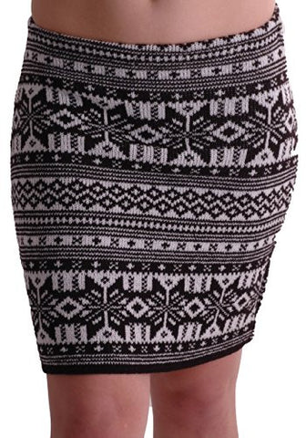 Aztec Cozy Knitted Skirt