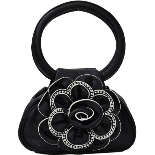 Nina Studded Flower Handbag