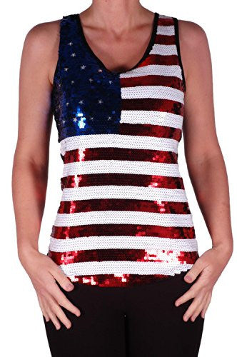 Stars and Stripes USA Sequined Vest