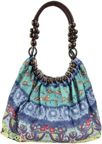 Belladonna Beads Ruched Shoulder Bag