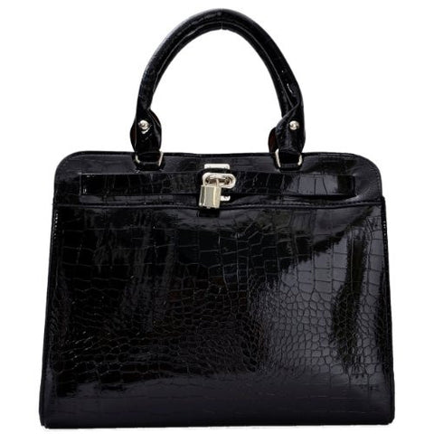 Allegra Croc Print Satchel Bag