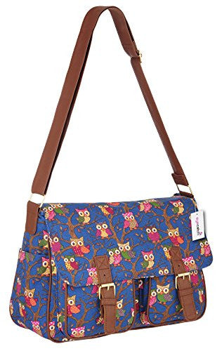 1Canvas Owl Print Satchel Bag