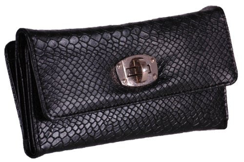 Croc Print Faux Leather Purse