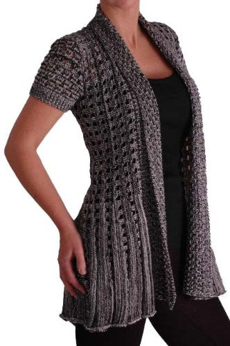 Palermo Crochet Knitted Waterfall Cardigan