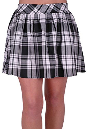 1Imogen Elasticated Tartan Mini Skirt