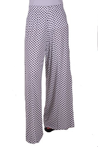 1Eliza Polka Dot High Waisted Palazzo Plus Size Trousers