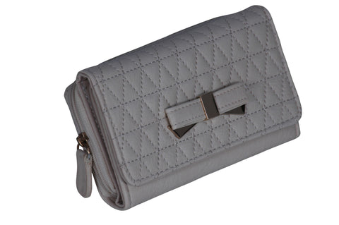 Quilted Bow Faux Leather Purse