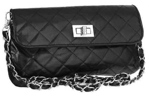 1EyeCatchBags - Garbo Faux Leather Quilted Clutch Cross Body Bag Shoulder Bag