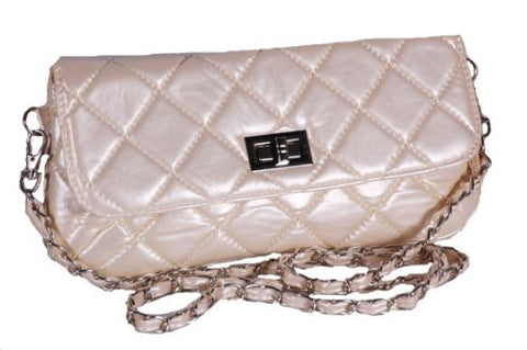EyeCatchBags - Garbo Faux Leather Quilted Clutch Cross Body Bag Shoulder Bag