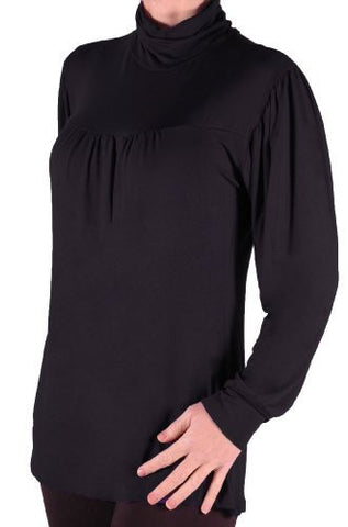 EyeCatch Plus - Jessie Ladies Casual Stretch Polo Neck Top Sizes 14 - 28