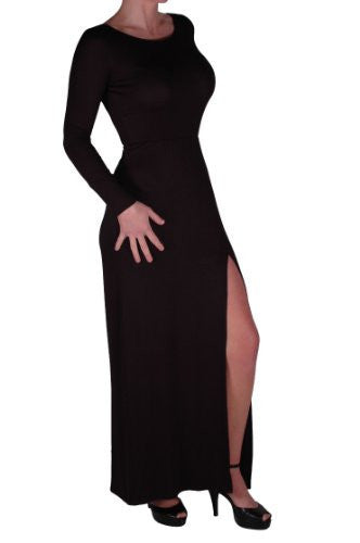 EyeCatch -  Libby Womens Thigh High Slit Long Maxi Dress