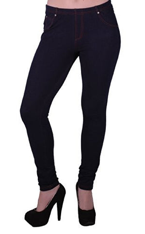 EyeCatch - Liberty Womens Elastic Stretch Trousers Jeans Ladies Jegging Legging