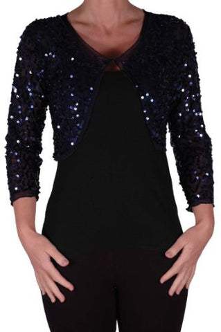 Scarlett Sequined Chiffon Long Sleeve Cardigan