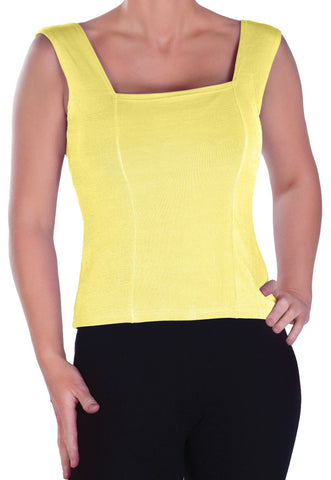 Sleeveless Square Neck Tunic Top