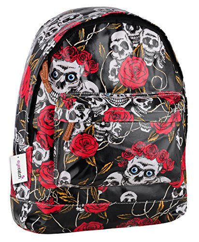 1Skull Roses Print BackPack