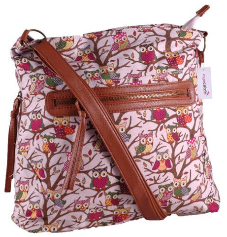 Cross Body Owl Print Shoulder Bag