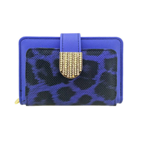 Animal Print Faux Leather Zipped Credit Wallet