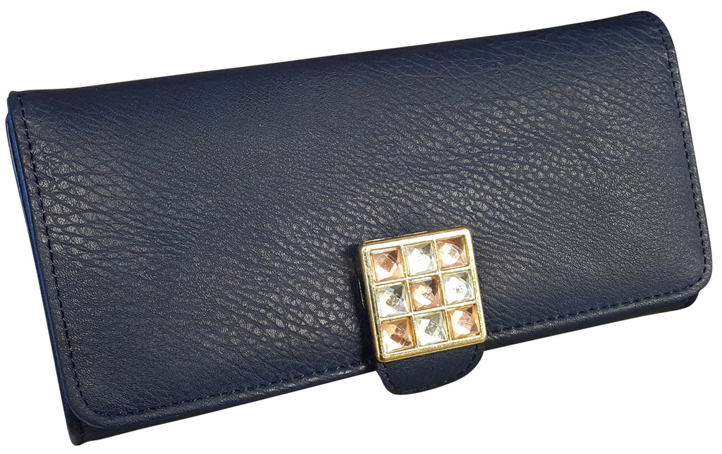 Diamante Faux Leather Coin Wallet