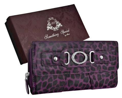 Animal Print Faux Leather Wallet