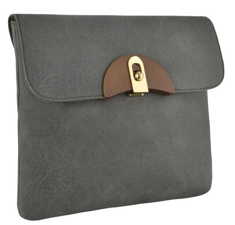 Calypso Faux Leather Clutch Bag