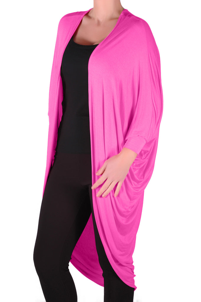1Baggy Waterfall Open Draped Batwing Sleeves Cardigan