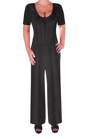 Elina Lace Crochet Plus Size Jumpsuit