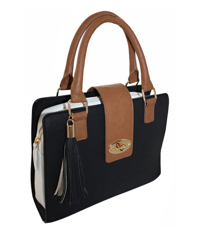 Synthetic Faux Leather Satchel