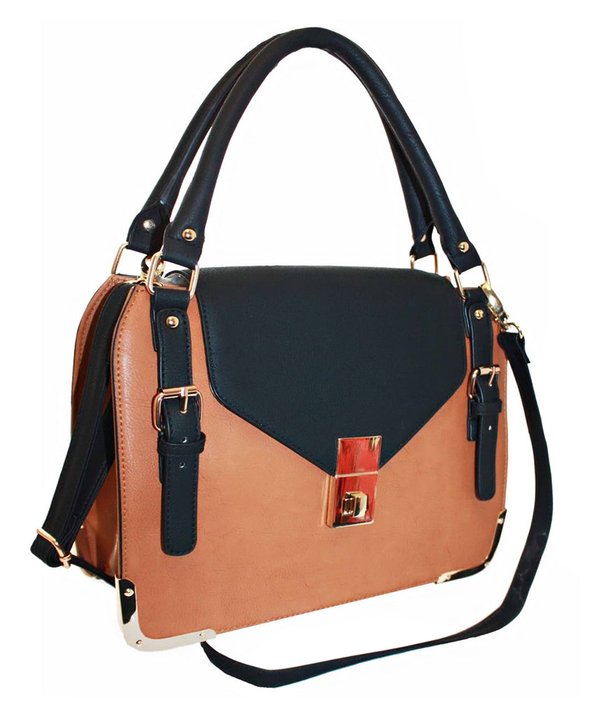 Faux Leather Satchel