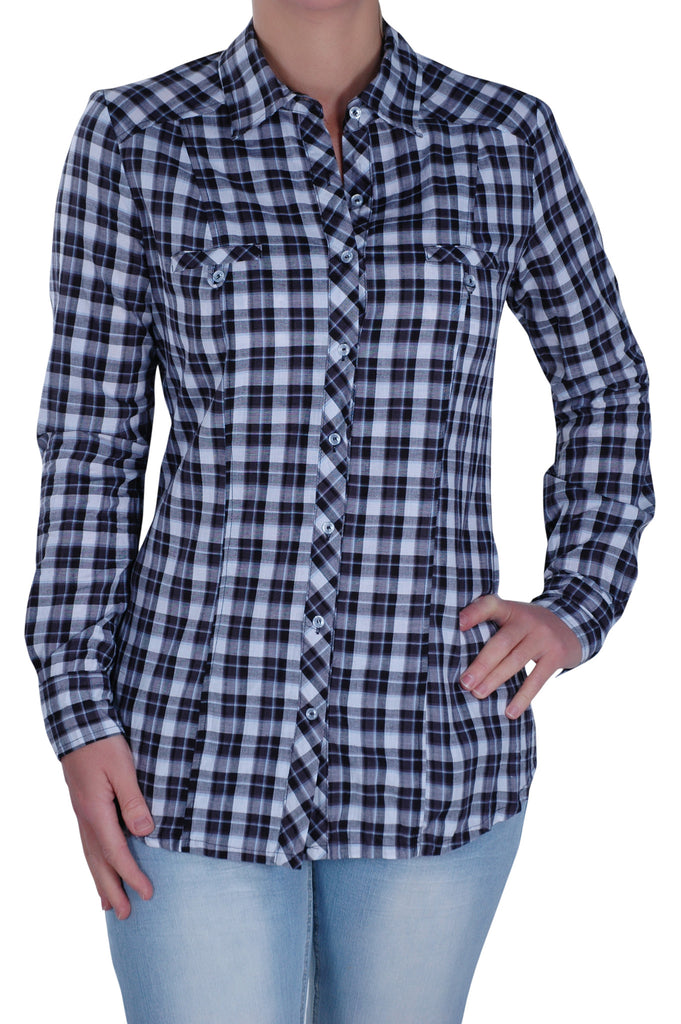 1Checkered Short Sleeve Collared Plus Size Shirt