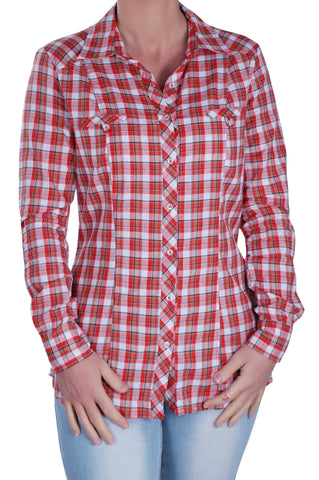 Checkered Short Sleeve Collared Plus Size Shirt