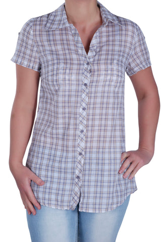 Checkered Collared Plus Size Shirt