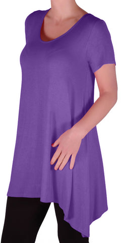 Geneva Short Sleeve Plus Size Tops