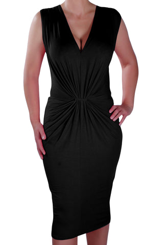 Iris V Neck Ruched Bodycon