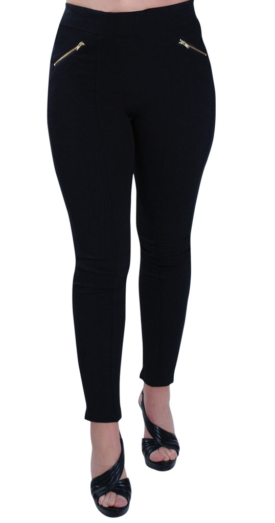 Zipped Biker Style Leggings