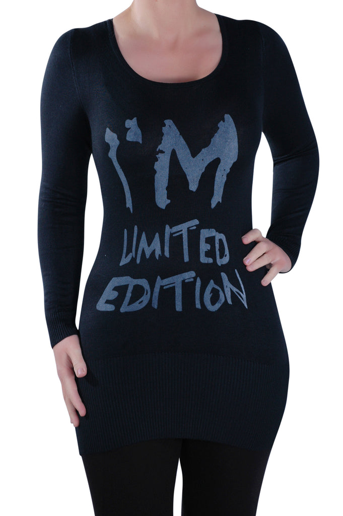 1I'm Limited Edition Slogan Long Sleeve T-Shirt