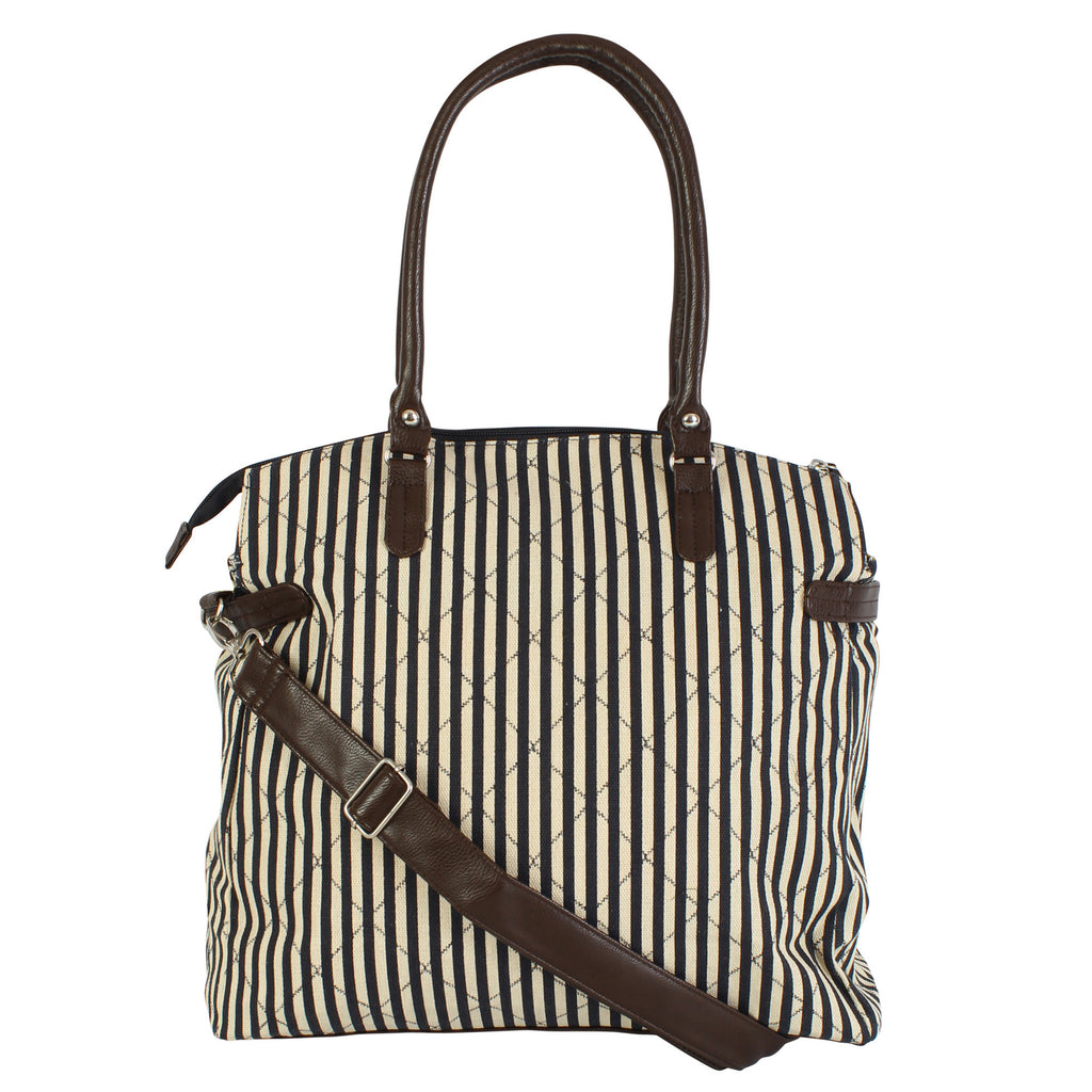 Stripe Aztec Canvas Cross Body Shoulder Bag