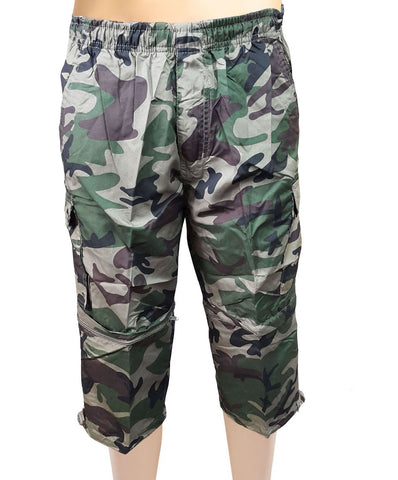 2 in 1  Army Camouflage 3/4 Crop Capri Trousers
