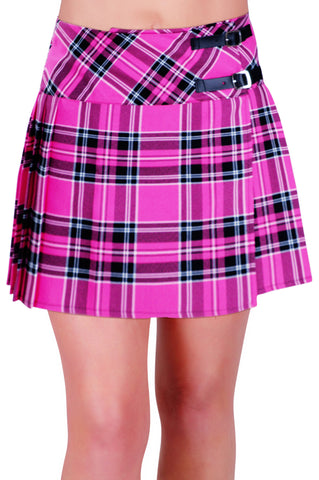 Kyla Tartan Buckle Mini Skirt