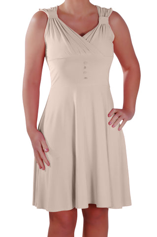 Monica Sweetheart Neckline Sleeveless Grecian Midi Dress