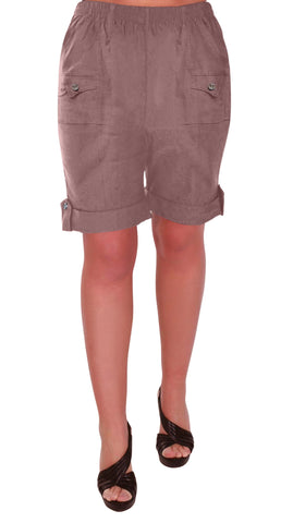 Skye Elasticized Plus Size Shorts