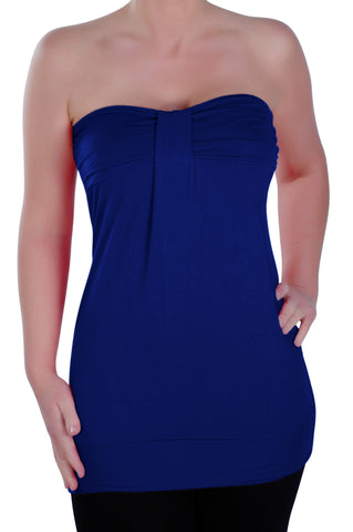 Nicole Sleeveless Ruched Strapless Top