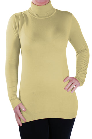Fine Knit Polo Neck Pullover