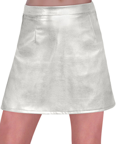 EyeCatch - Womens Faux Leather Look PVC A Line Mini Short Ladies Skirt