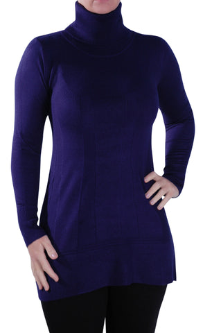 Long Sleeve Polo Neck Knitted Jumper