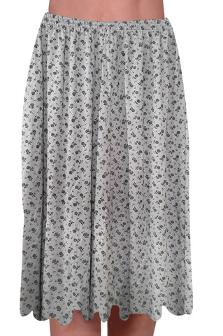 EyeCatch - Womens Knee Length Elasticated Designer Printed Ladies Skirts