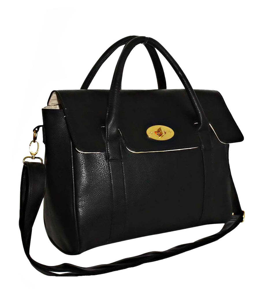 Faux Leather Shoulder Strap Handbag