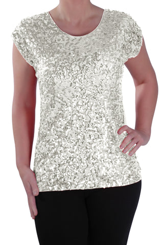 Sequin Embellished Sparkle Evening Tops